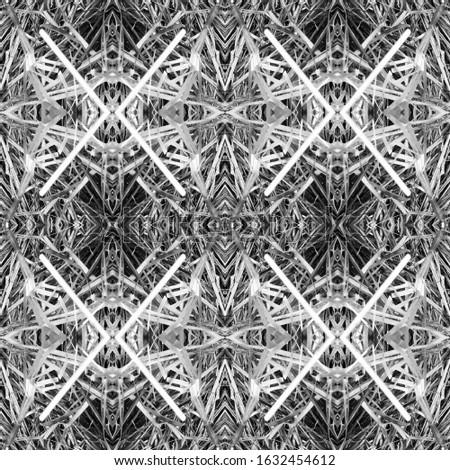 Dark Vintage Repeat Pattern Tile. Ornamental Geometry. Ethnic Ornament Print. Black Tile Dressing element Antique Element Bright Kaleidoscope Effect. Floral Elements Floral Design.