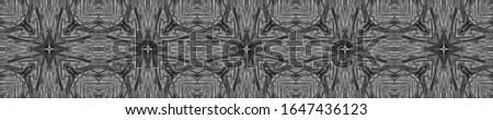 Dark Vintage Repeat Pattern Tile. Ornate Tile Background Ornamental Geometry. Black Silver Embroidery print Antique Element Golden Kaleidoscope Effect. Floral Elements Floral Elements