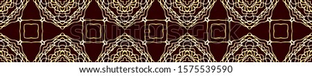 Dark Vintage Repeat Pattern Tile. Ornate Tile Background Ornate Tile Background Black Silver Embroidery print Antique Element Golden Kaleidoscope Effect. Floral Elements Floral Design.