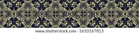 Dark Vintage Repeat Pattern Tile. Ornate Tile Background Ornate Tile Background Black Silver Decoration print. Antique Element Bright Kaleidoscope Art. Floral Design. Floral Pattern.