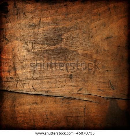 Dark vintage wood texture - stock photo