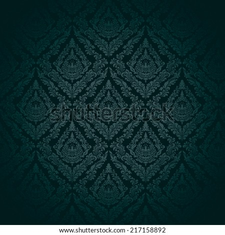 dark wallpaper (baroque style) may used as background.