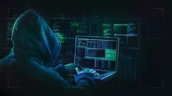dark web hooded hacker  cyber war concept