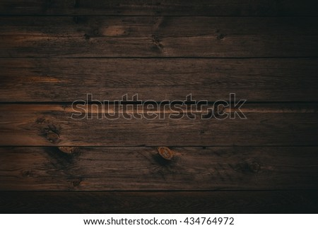 dark wood board use for background. Old wooden wall