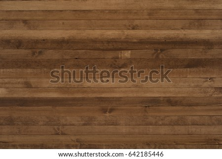 Dark wood texture background surface with old natural pattern. Grunge surface rustic wooden table top view #642185446