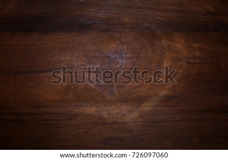 Dark wood texture background surface with old natural pattern or dark wood texture table top view
