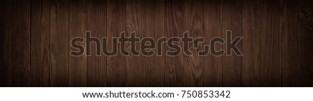 Dark wood texture, empty background of wooden floor or table #750853342