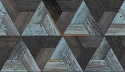 Dark wood texture. Seamless wooden wall made of barn boards.
