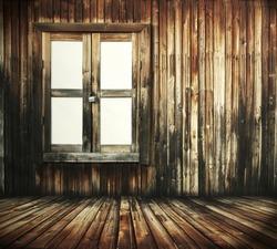 dark wooden interior with window