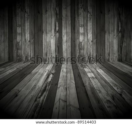 Dark Wooden Room as Background