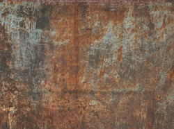 Dark worn rusty metal texture background.