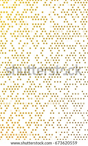 Dark Yellow banner with circles, spheres. Abstract spots. Background of Art bubbles in halftone style with colored gradient. #673620559
