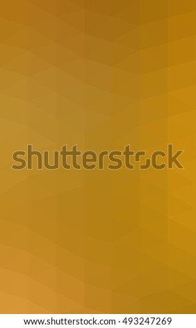 Dark yellow shining triangular pattern. Modern geometrical abstract illustration with gradient. The completely new template can be used for your brand book. #493247269
