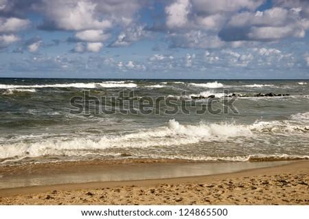 Darlowo Baltic Sea. Poland