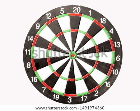 Dart Board Isolated on White background, Setting challenging business goals And ready to achieve the goal concept.