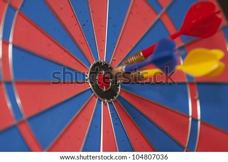 Dart Board on a wall