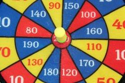 Dart board. Targeting game. Shooting game.