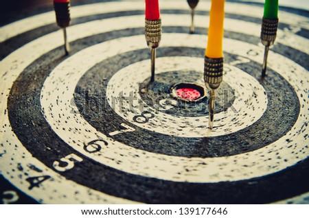 dart closeup as a background