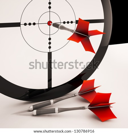 Dart Target Meaning Focused Successful Accurate Goal
