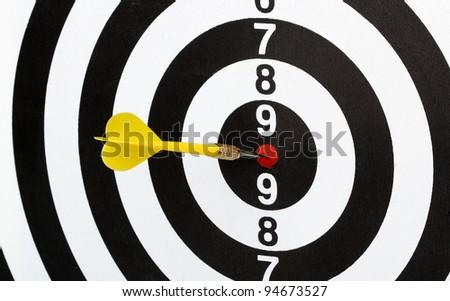 Dartboard bulls eye. Isolated on white background