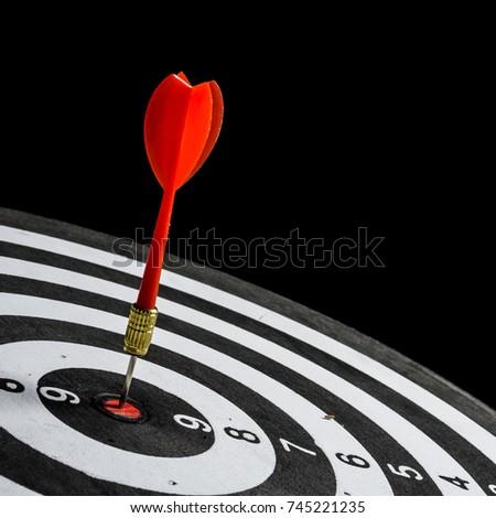dartboard on black background #745221235