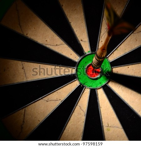 Dartboard wide - stock photo