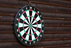 Dartboard without arrows. Empty dartboard. Ready to play.