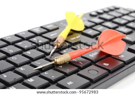 Darts and keyboard