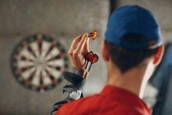 Darts game. Dart and target.