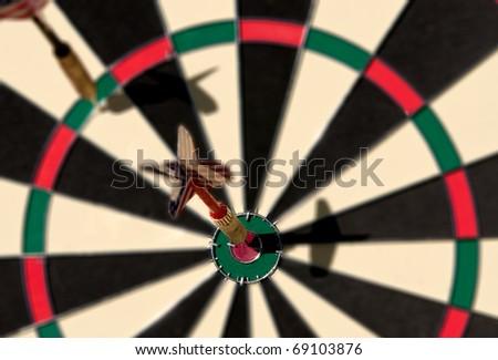 Darts on Bull\'s-eyes