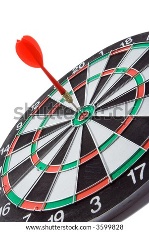 darts over white backgroubds