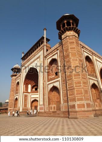 Darwaza-i rauza or The Great gate. Gateway to the Taj Mahal