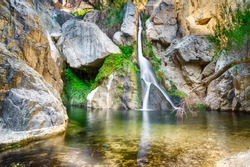Darwin Falls near Panamint Springs is an Oasis in the Desert of Death Valley National Park, California
