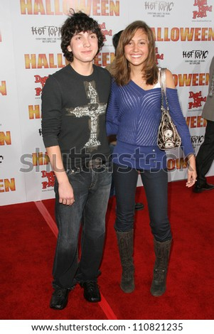 "Daryl Sabara and Taylor Dooley at the Los Angeles Premiere of ""Halloween"". Grauman's Chinese Theatre, Hollywood, CA. 08-23-07"