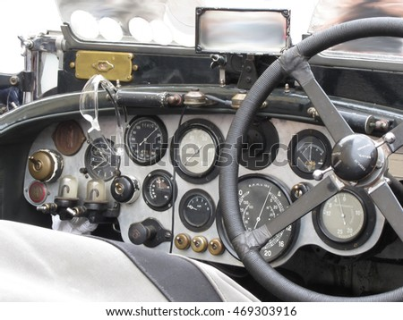 dashboard and steering wheel in ...