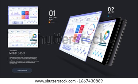 Dashboard, great design for any site purposes. Business infographic template.  flat illustration. Big data concept Dashboard user admin panel template design. Analytics admin dashboard.