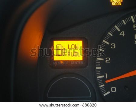 Dashboard Low Fuel
