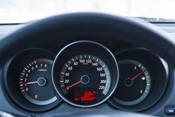 Dashboard of car