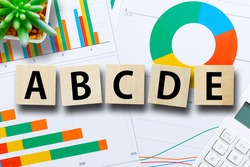 Data analysis documents and alphabet ABCDE
