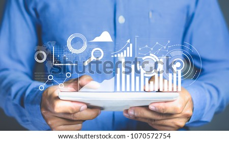 Data Analytics and business intelligence concept. Foto stock ©