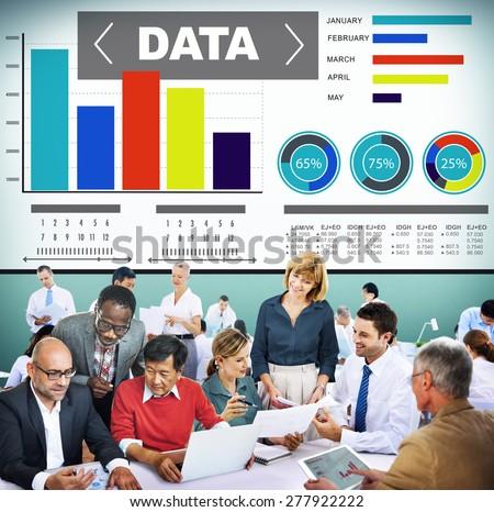 Data Analytics Chart Performance Pattern Statistics Information Concept
