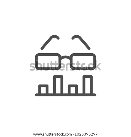 Data analytics line icon isolated on white