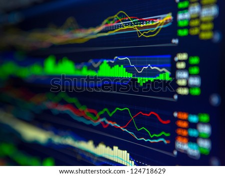Data analyzing in forex market: the charts and quotes on display. Analytics U.S. dollar index DXYO.
