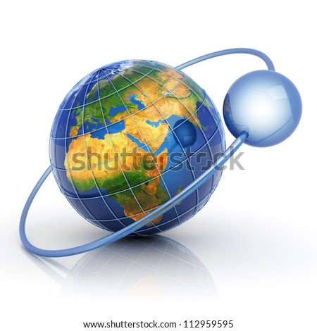Data around world concept. Elements of this image furnished by NASA.