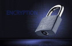 Data encryption concept. Personal data protection.