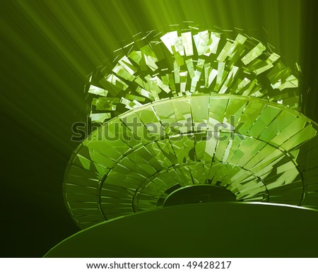 Data information loss and corruption illustration, shattered cd