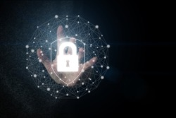 Data protection Cyber Security Privacy Business Internet technology Concept. Data protection and insurance. The concept of business security, information security from viruses, crimes and attacks.