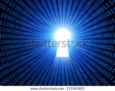 Data security concept binary background