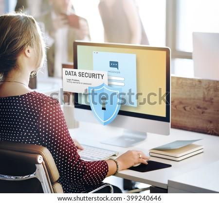 Data Security Digital Intenet Online Concept
