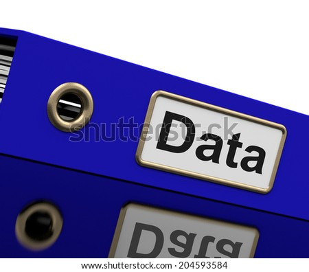 Data Storage Representing Hard Drive And Organize